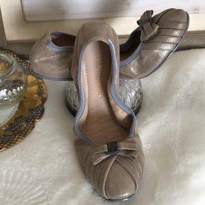 Ferragamo My Joy metallic leather ballet flats 8